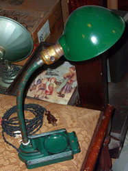Green desk lamp c 1930's-40's